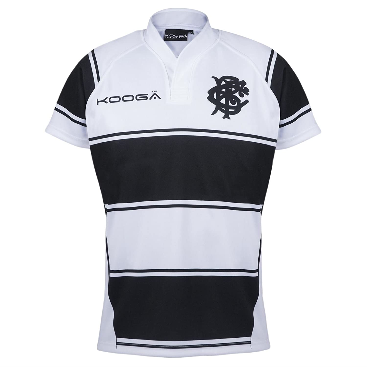f3fa5af912b Kooga Mens Gents Rugby Barbarians Home Shirt Jersey Top 2016-17 -  White Black - S  Amazon.co.uk  Clothing
