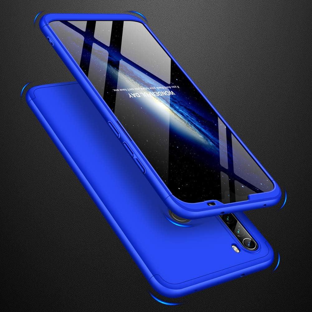2Pi/èces HD//9D Verre Tremp/é Jardire Compatible Coque Xiaomi Redmi Note 8T Bumper Cover Anti-Choc et Anti-Rayures de PC Case 3 en 1 Detachable Tactile Antichoc Ultra Mince Cover-Bleu