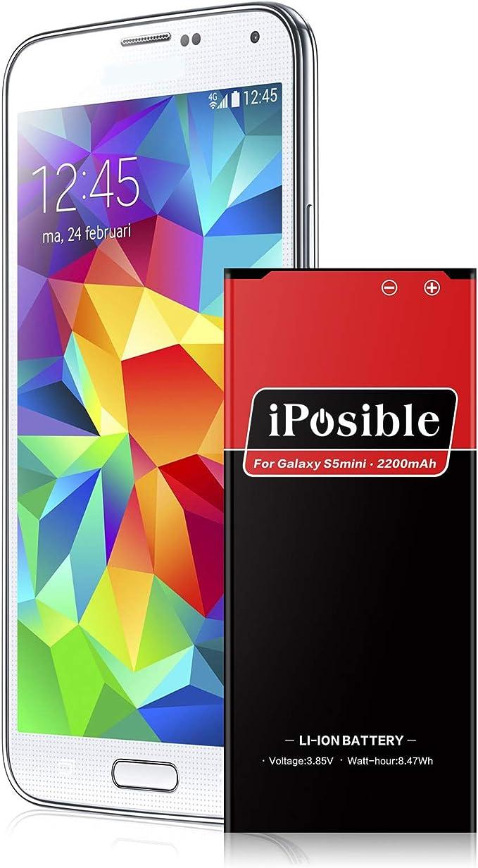 iPosible Batería para Galaxy S5 Mini, 2200mAh Batería de Li-Ion ...