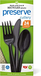 product image for Preserve Recycled Plastic Cutlery Made in USA, 24 Count