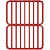 """STAN BOUTIQUE Oversize Silicone Roasting Rack Heavy Duty Cooling and Baking Rack Fits Jelly Roll Sheet Pan Oven Safe Roast Rack Wire Grid for Cooking Steaming (11"""" x 14"""") - RED"""