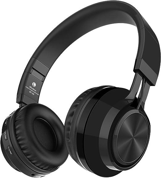 Alihen BT-06 Swift Auriculares Estéreo Inalámbricos con Bluetooth 4.0, Micrófono y Control de Volumen + Cable de Audio. Compatible con la mayoría de Teléfonos / iPhone / Samsung / PC / Tv / Laptop (Negro): Amazon.es: Electrónica