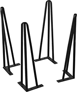 Home Soft Things Serenta Hairpin Table Legs 4 Piece Set, 15""