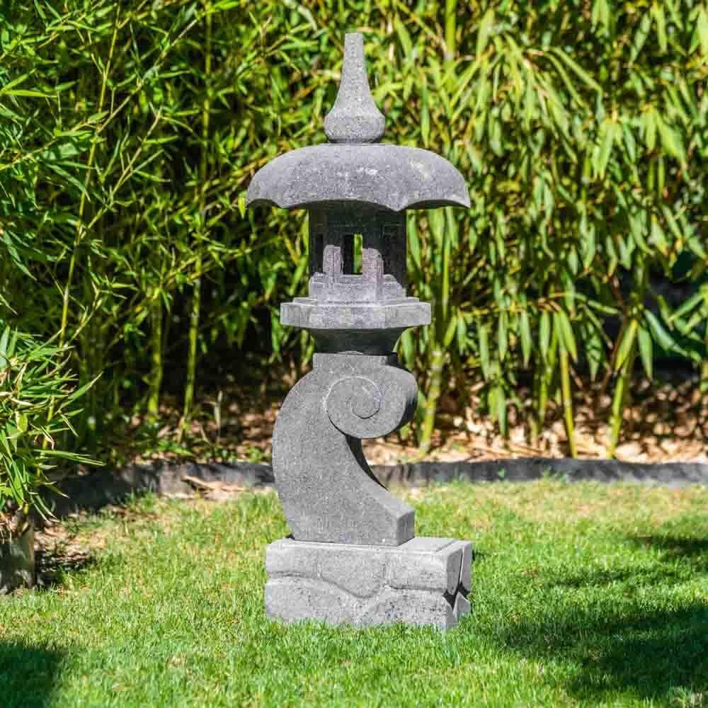 Wanda collection Linterna Japonesa Pagoda Zen de Piedra de Lava 90 cm: Amazon.es: Jardín