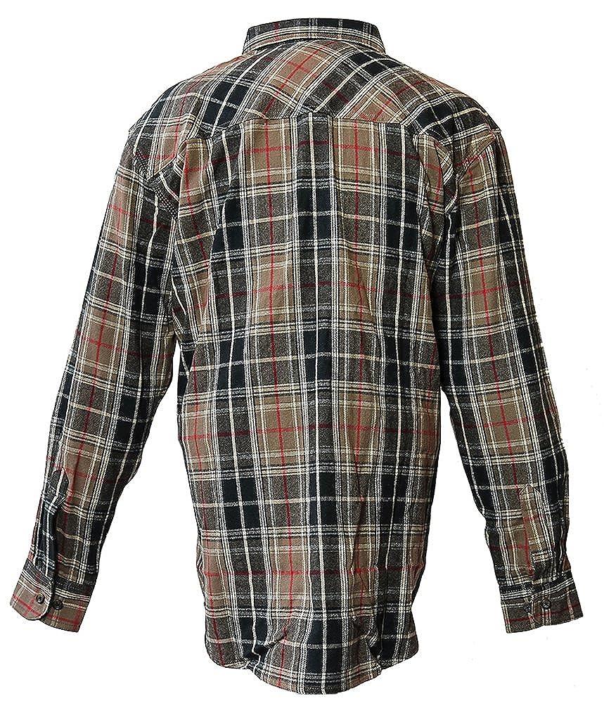 Five Brother Mens Heavyweight Regular Fit Flannel Shirt