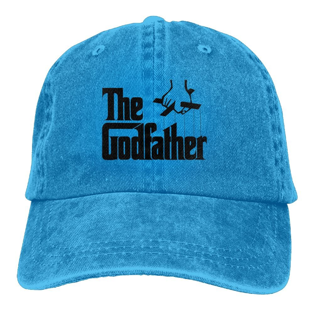 Grandpa Movie Plain Adjustable Cowboy Cap Denim Hat for Women and Men