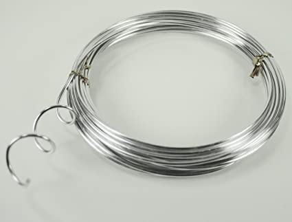 Amazon.com: SILVER Aluminum Wire Crafting, Floral or Jewelry Making ...
