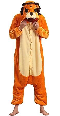 NOL Unisex Adult Lion King Onesie Pyjamas Kigurumi Costumes Small Yellow