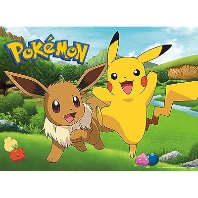 Buffalo Games - Pokemon - Pikachu & Eevee Spring - 100 Piece Jigsaw Puzzle: Toys & Games