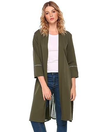 neu billig auf Lager Bestbewertet echt Meaneor Leichter Mantel Damen Jacke Übergangsjacke Rücken ...