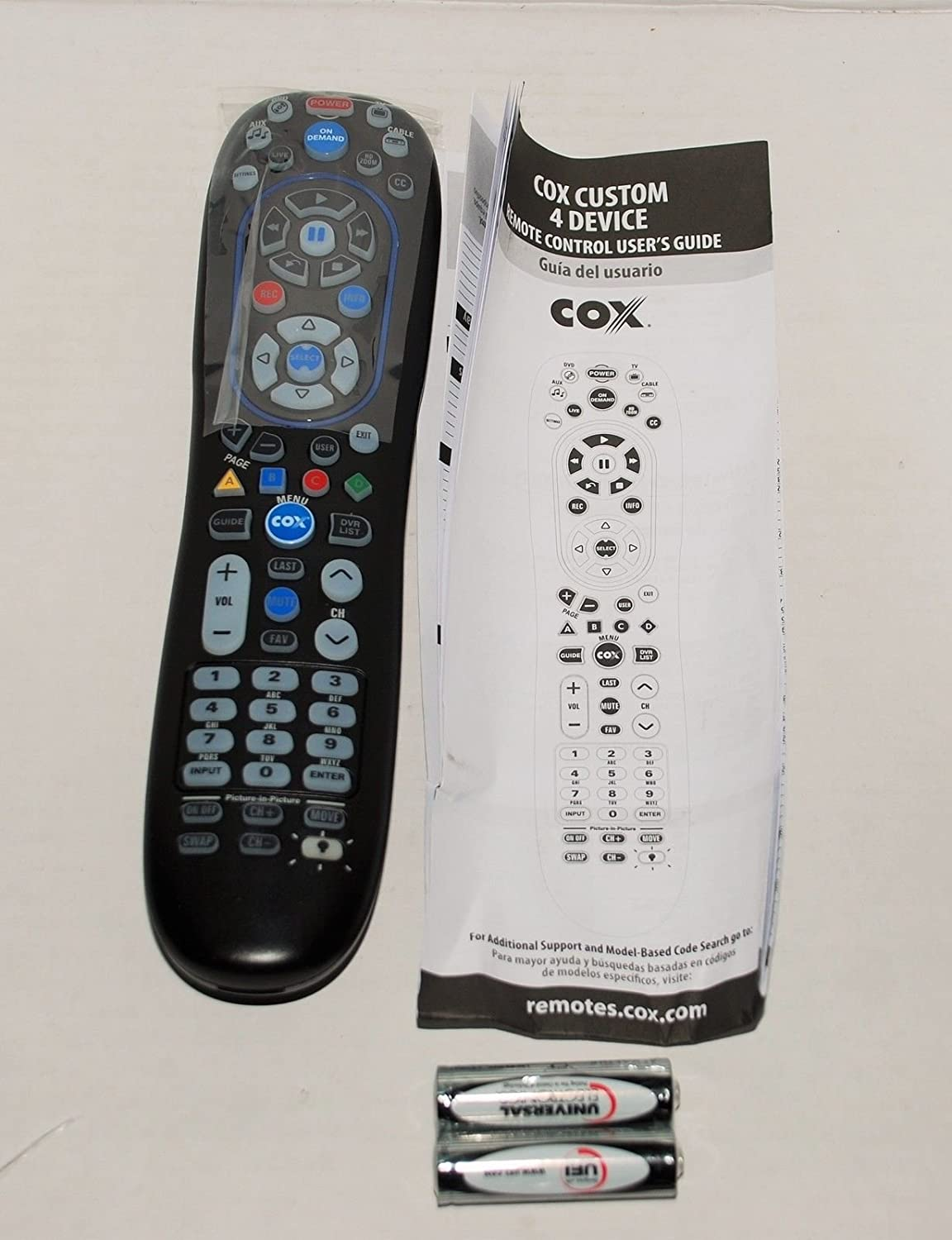 Amazon.com: MOTOROLA 4-DEVICE LED BACK LIGHT UNIVERSAL COX REMOTE URC-8820-MOTO  by Motorola: Home Audio & Theater