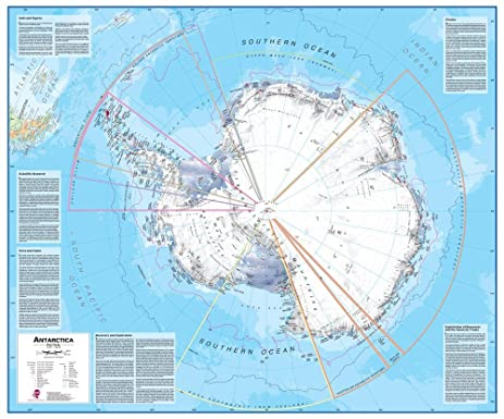 Amazoncom Maps International Antarctica Wall Map Laminated - Amazon maps