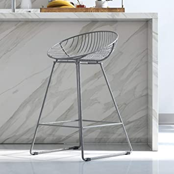 Astounding Cosmoliving By Cosmopolitan Ellis Barstools Gray Uwap Interior Chair Design Uwaporg