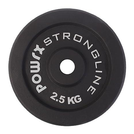 POWRX Discos pesas hierro fundido 10 kg set (4 x 2,5 kg ...