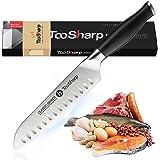 TooSharp Santoku Knife 7 inch/Super Sharp Santoku Kitchen Knife/German High Carbon Stainless Steel Cooking Santoku knife, Erg