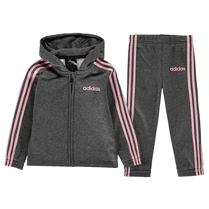 girls adidas Hooded Polyester Tracksuit Girls