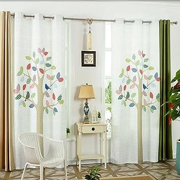 gwell kinderzimmer gardinen vorhang baum osenschal dekoschal fur wohnzimmer schlafzimmer 60 blickdicht 1er pack