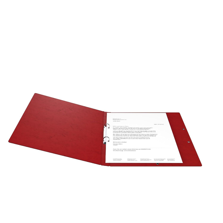 Aus extra starkem Colorspan-Karton 2 Ring-Mechanik DIN A4 F/üllh/öhe 14 mm rot Ring-mappe Ringbuch Hefter ideal f/ür B/üro und Schule Made in Germany Original Falken Ringhefter mit Gummizug