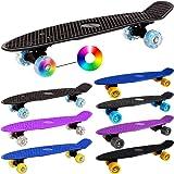 Retro Skateboard Pennyboard Board Rollen LED Retroboard -【Farb- und Modellauswahl】
