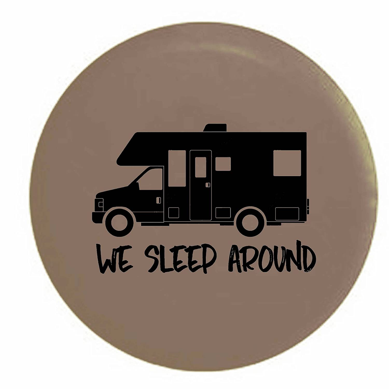 Stealth We Sleep Around Motorhome RV Camper Spare Tire Cover OEM Vinyl Black 30 in