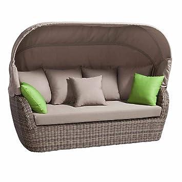 gartensofa mit sonnendach jq01 hitoiro. Black Bedroom Furniture Sets. Home Design Ideas