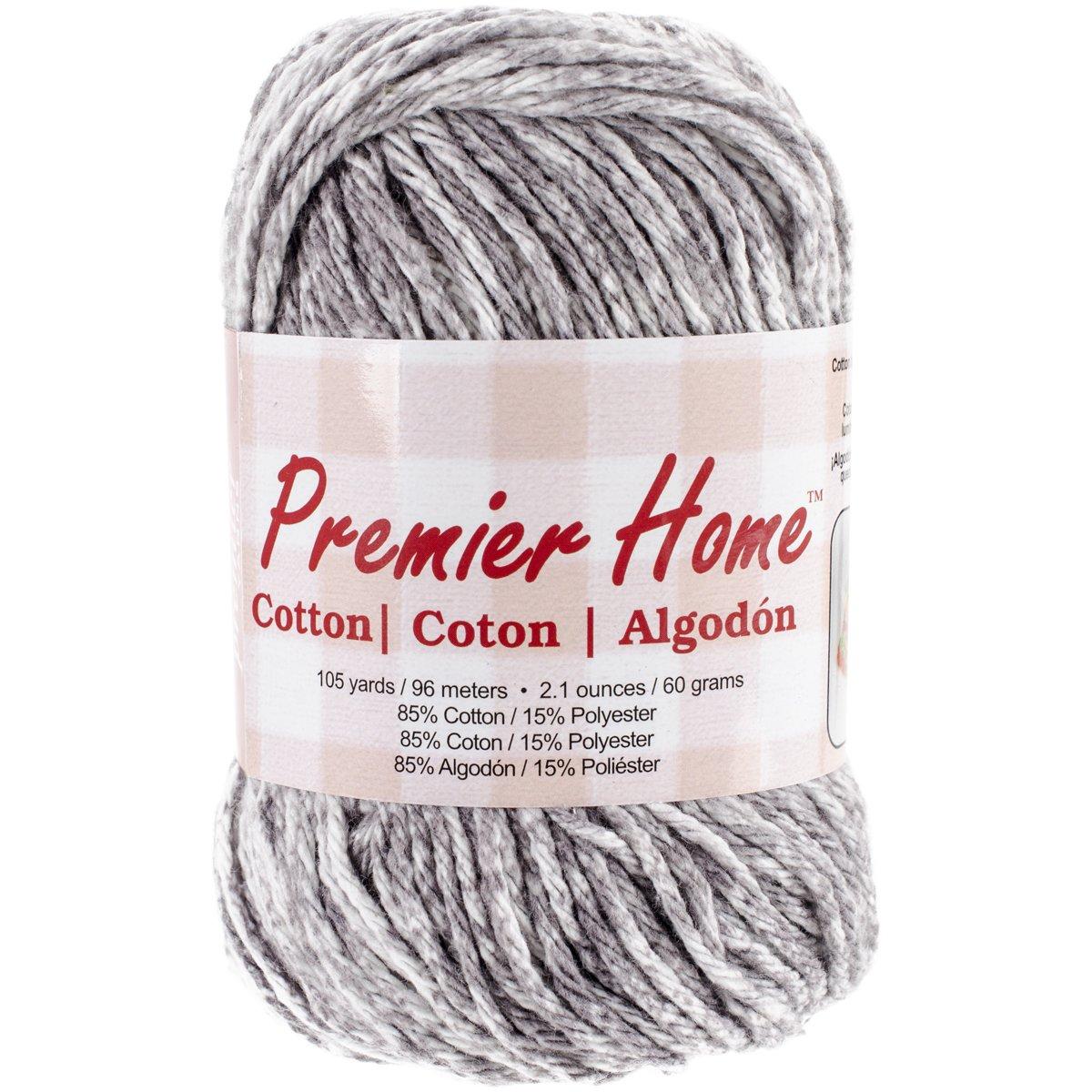 Premier Yarns Home Cotton Yarn, Grey Splash