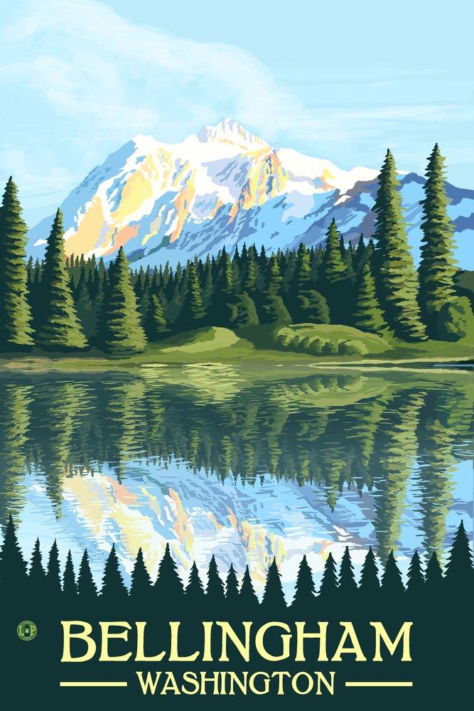 Bellingham, Washington - Mount Shuksan (12x18 Art Print, Wall Decor Travel Poster)