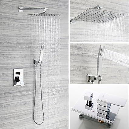 Bon ZJMSDK In Wall Bathroom Luxury Rain Mixer Shower Combo Set Ceiling Install  Rainfall Shower Head