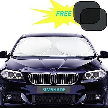 2Pcs Retractable Car Sun Shade for Blocking Sun Glare and Heat Manelord Auto Sun Shade Car Sun Shade with Roller Sun Shade for Car Window