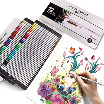Amazon Com 72 Drawing Colored Pencil Set Color Pencils Premium Artist Colored Art Pencils For Adults Artists Student Beginners Professiona Coloring Book Office Products