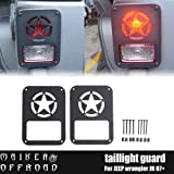 MAIKER Rear Taillights Cover Jeep Wrangler Tail Light Covers Freedom Edition Star Tail Light Guards Cover for 2007-2017 Jeep Wrangler Unlimited JK