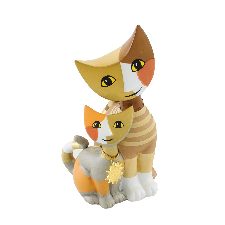 Goebel Porzellan-Katzenpaar, Rosina Wachtmeister, Jahreskatze 2015, Swarovski-Kristalle, Novella e Savino, 31336019