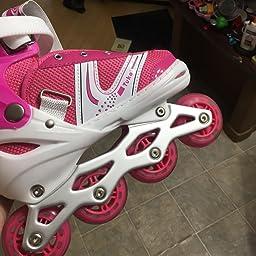 Amazon Com Tuko Kids Adjustable Roller Skates Girl Blades Illuminating Inline Skates Medium Big Kid 2 4 Us Sports Outdoors