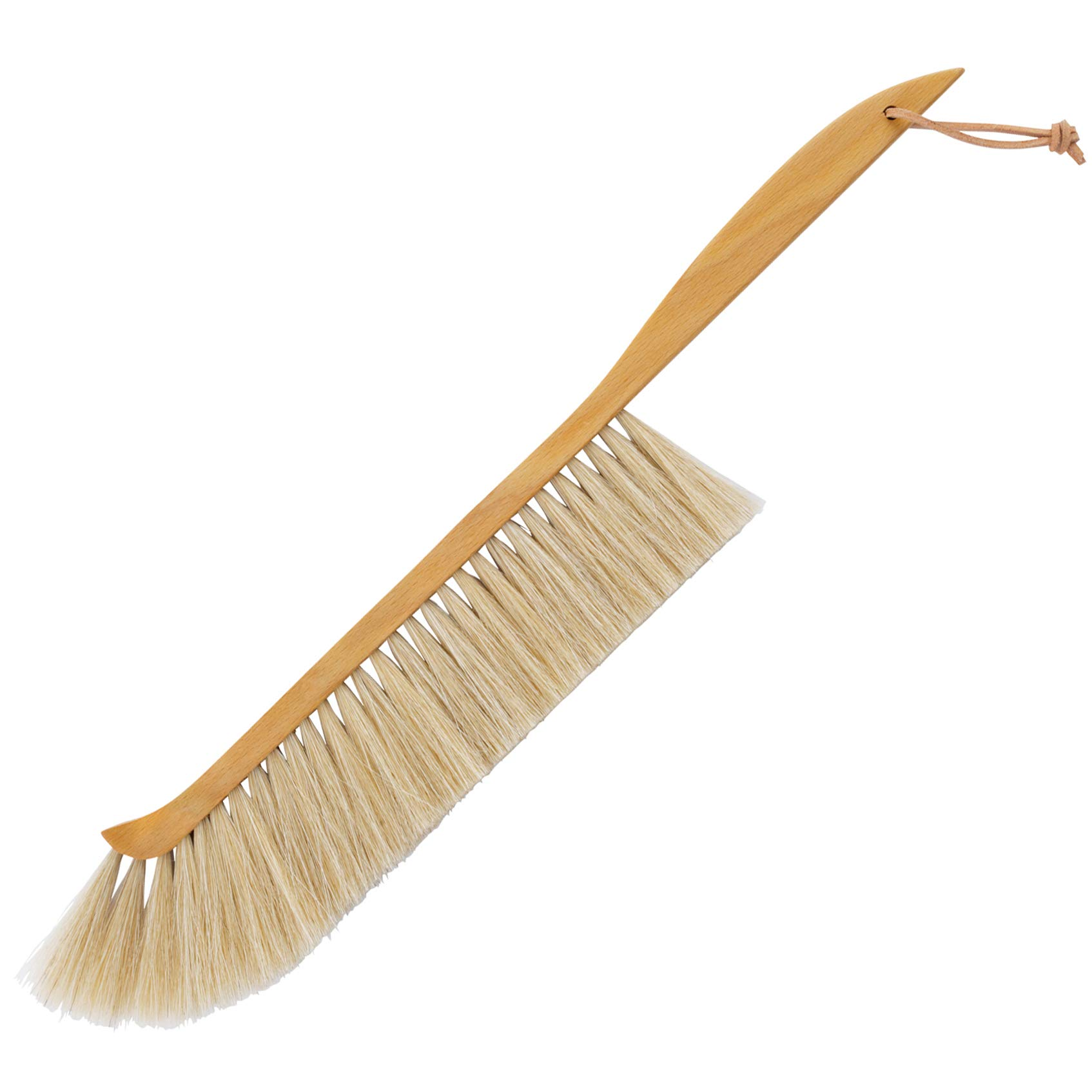 Redecker Natural Fiber Beekeeper's Broom, Horsehair Bristles, Oiled Beechwood Handle, 19-1/4'', Made in Germany