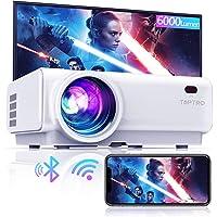 TOPTRO Mini-bluetooth-projector, 6000 lumen, met draadloze spiegeling, 200 inch, draagbare projector voor thuisbioscoop…