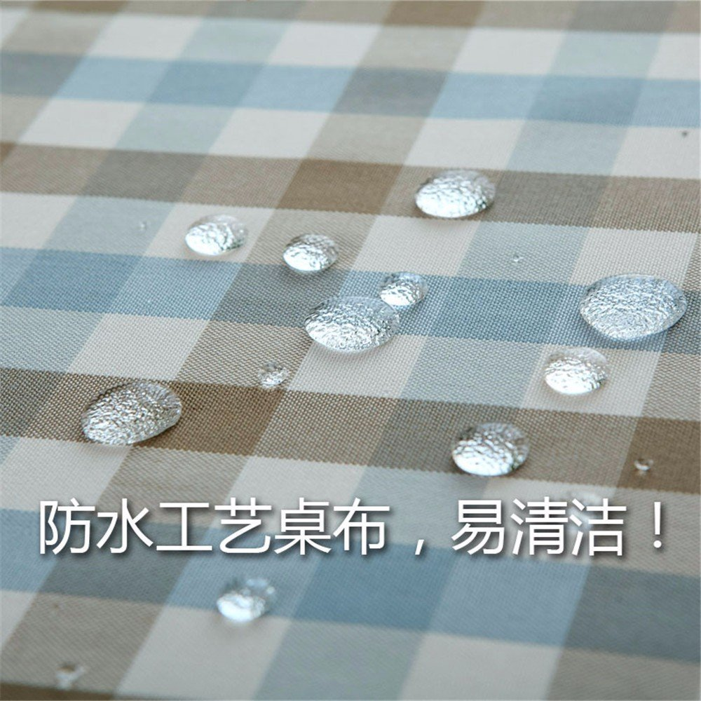 DIDIDD Simple modern style waterproof cloth cotton dust cloth rectangular lattice Christmas decorations,A,120X120cm