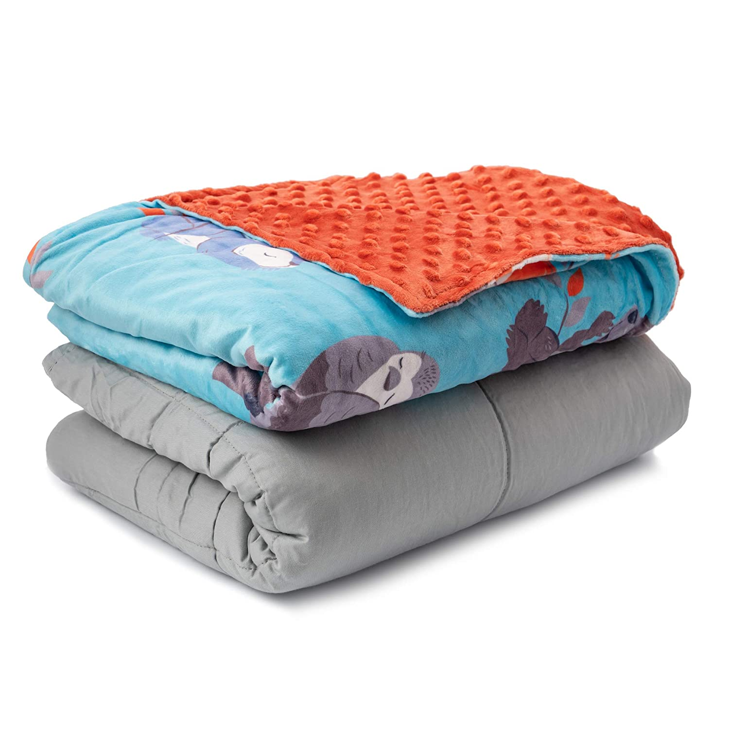 Sweetzer & Orange Weighted Blanket for Kids 7lbs Heavy Blanket, Best for 58-88lb Children