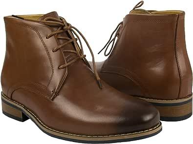 Zerimar Botas de Hombre con Alzas Que Aumentan su Altura + 7 cm ...