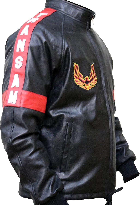 XXS to 3XL FaddyRox Smokey and The Bandit Burt Reynolds Bomber Faux Leather Black Jacket