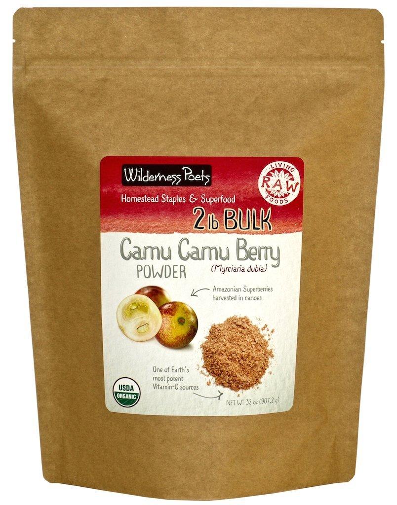 Wilderness Poets Camu Camu Berry Powder, 2 Pound (32 Ounce)