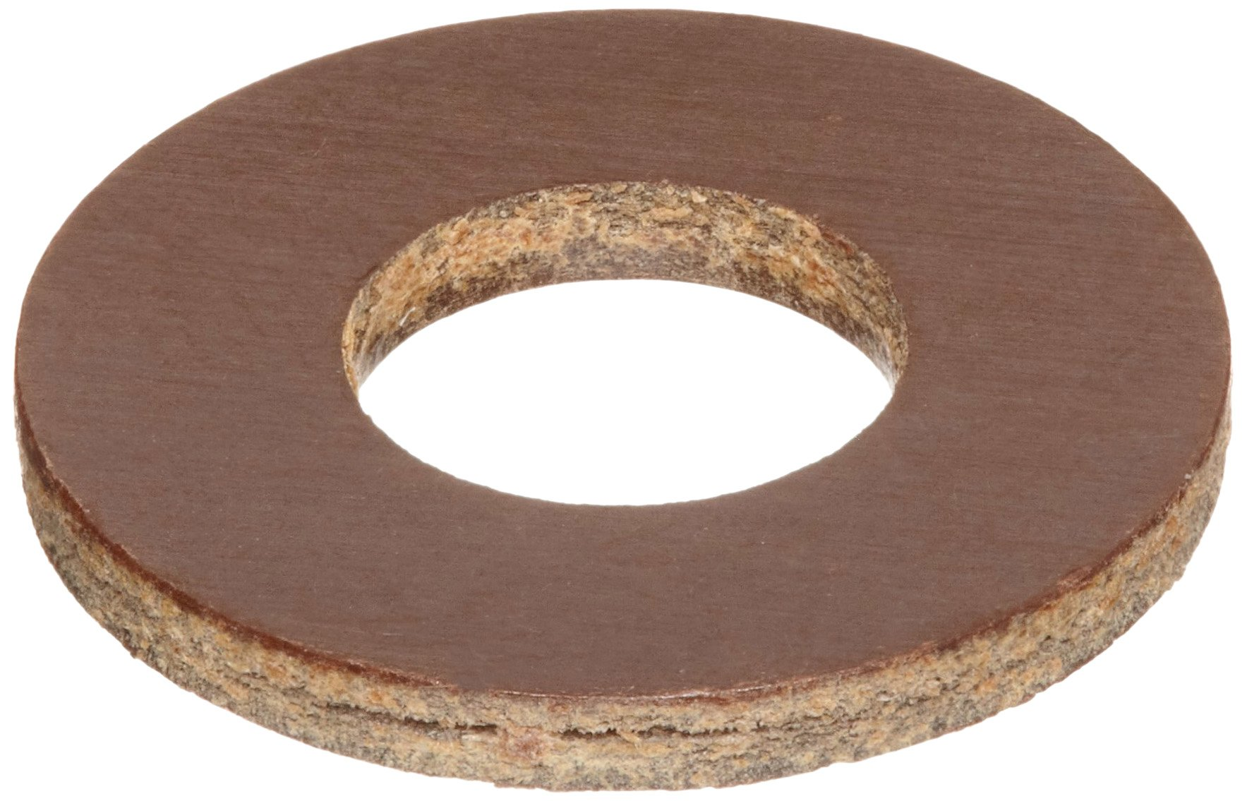 Phenolic Flat Washer, #4 Hole Size, 0.125'' ID, 0.312'' OD, 0.063'' Nominal Thickness, Made in US (Pack of 25) by Small Parts