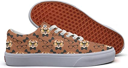 Owl With Glasses Casual Shoes Sneakers