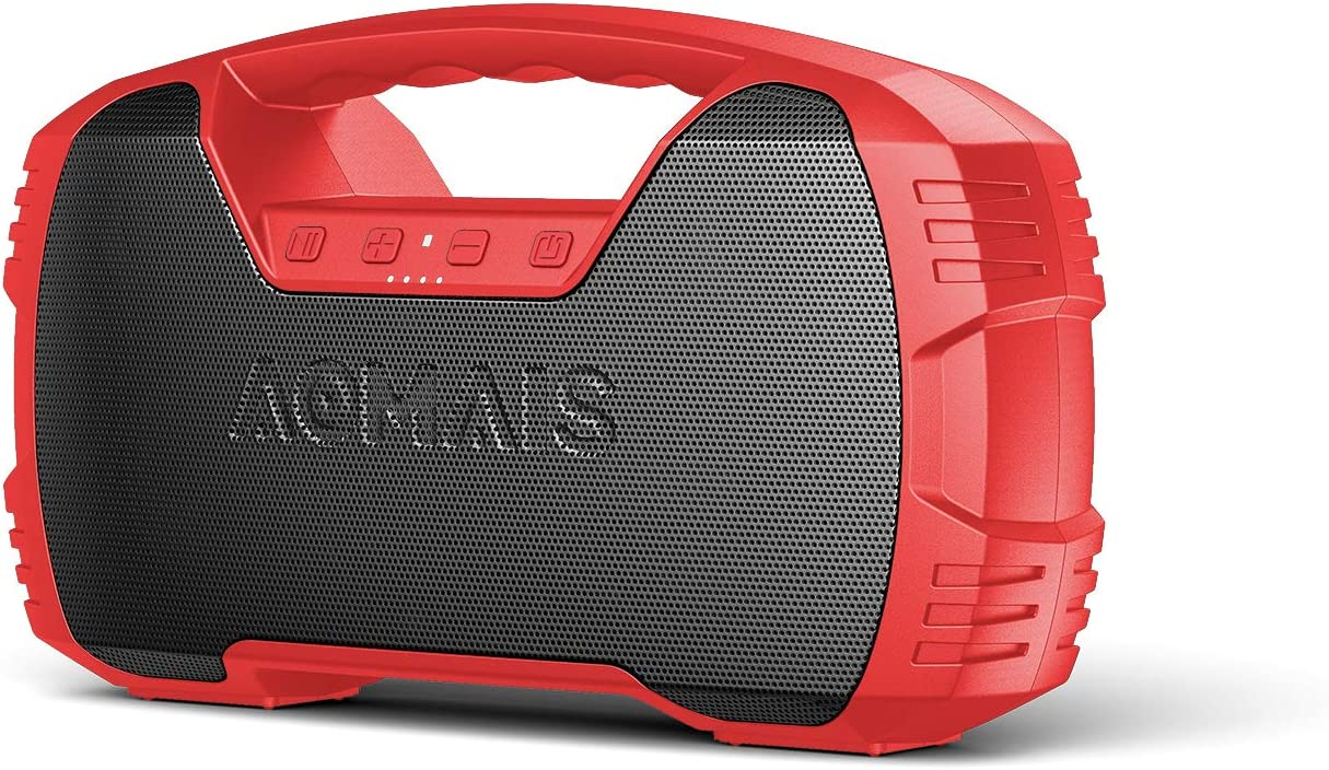 Portable Waterproof Bluetooth Speaker, 40-Hour Playtime Wireless Outdoor Speakers, 25W Rich Bass Impressive Sound, Stereo Pairing, Built-in Mic, 100ft Bluetooth for Home Party(9.5 x 3.4 x 6.5 inches)