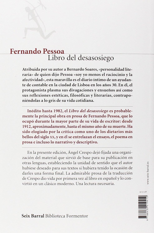 Amado Libro del desasosiego de Bernardo Soares / The Book of Disquiet of  VM01