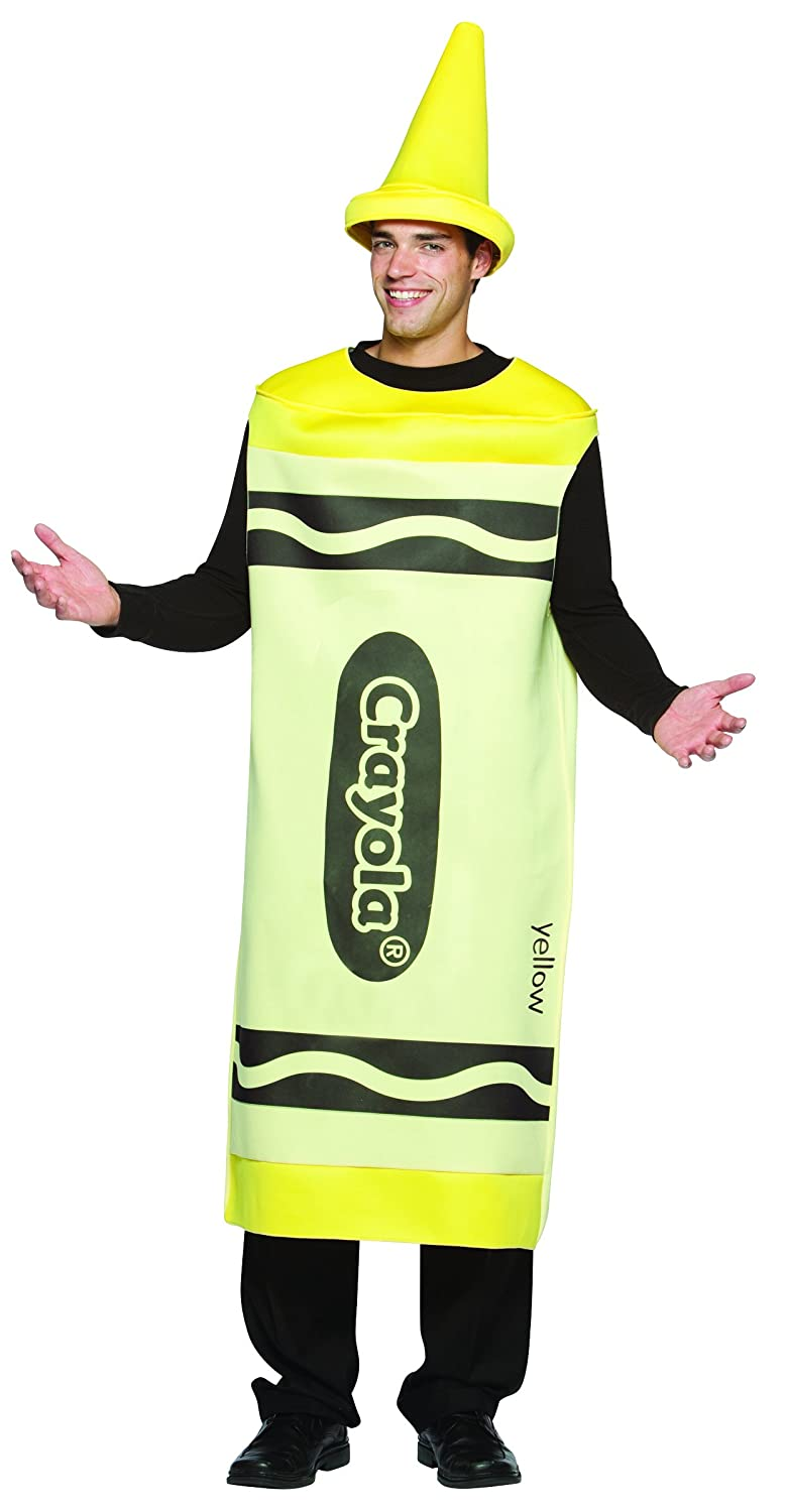 Yellow Crayola Crayon Mens Fancy Dress Adult Book Week Costume