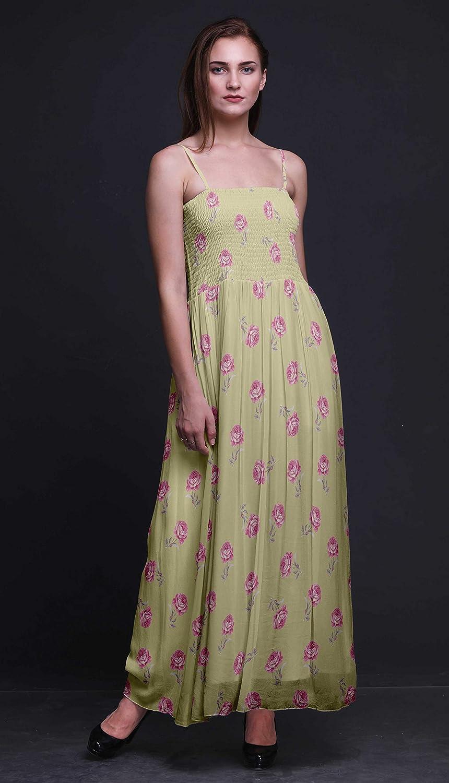 021d8e4e72 Bimba Grandiflora Roses Floral Print Women Long Maxi Tube Smocked Bodice  Dress-Small at Amazon Women's Clothing store: