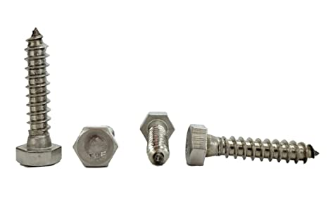 Stainless 5//16 x 3 Hex Lag Screw 25 pieces 1 To 5 Lengths Available in Listing 18-8 Stainless Steel 5//16 x 3
