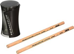 Prismacolor Premier Pencil Sharpener 1786520 with PC1077 Colorless Blender Pencils, 2 Piece