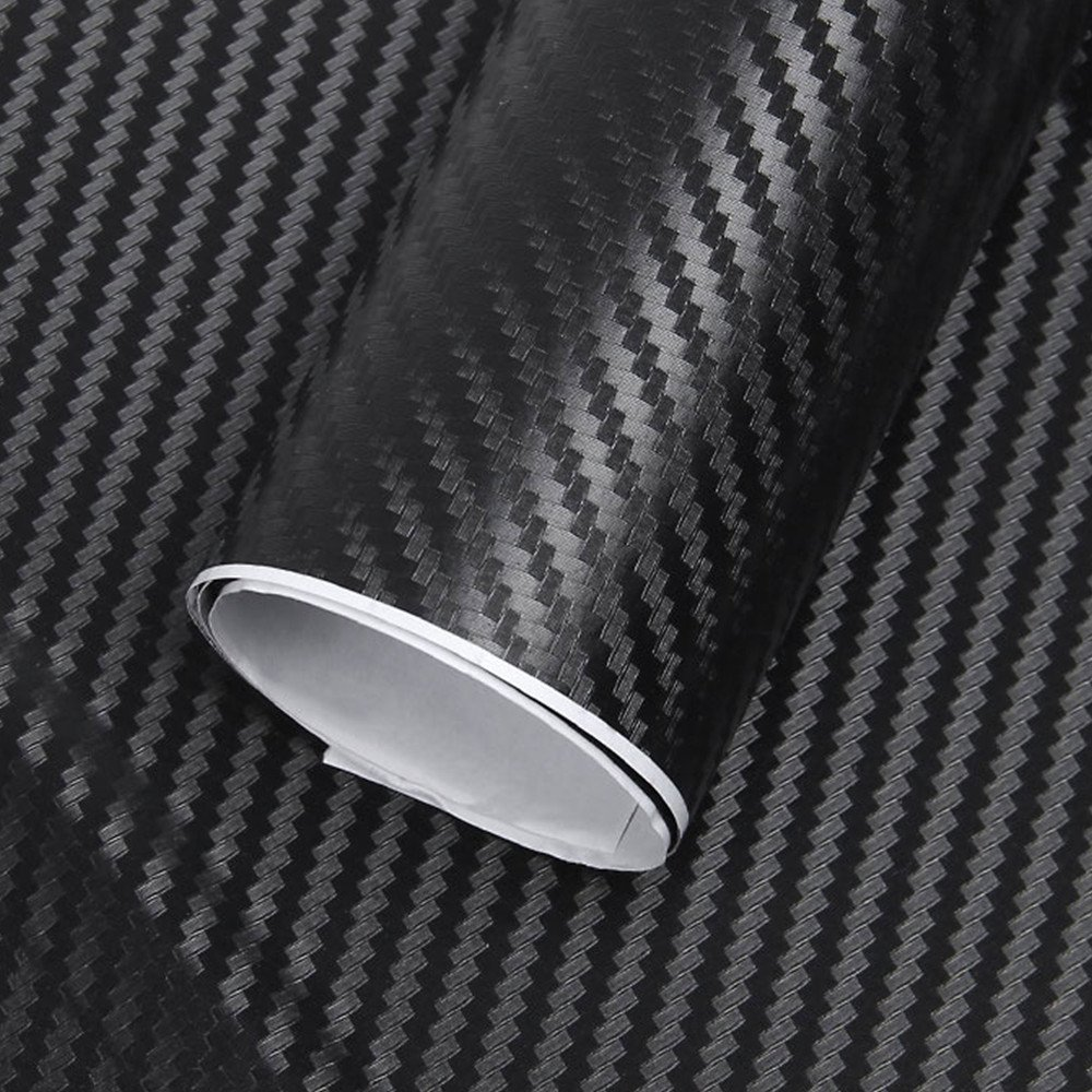 2 Car Carbon Fibre, Towinle 3D Carbon Fiber Vinyl Rolls Stickers Firm Adhesives /152 x 30 cm/Supports Water/Easy Placement-Carbon Vinyl Car Moto Mobile PC Queta