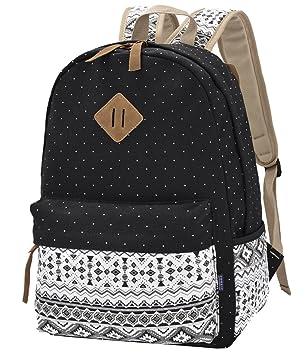 Backpack Mochilas Escolares,Mujer Mochila Escolar Lona Grande Bolsa Estilo Étnico Vendimia Casual Colegio Bolso Para Chicas: Amazon.es: Equipaje